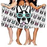 Toallas de baño KSIY Boston Terrier, toalla de baño para...