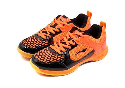Li Ning Smart Badminton Sports Shoes, Orange/Black