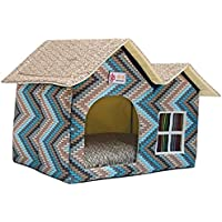 V.JUST Pet Products Pet Warme Hundehütte Cat Luxury Wurfbett,A