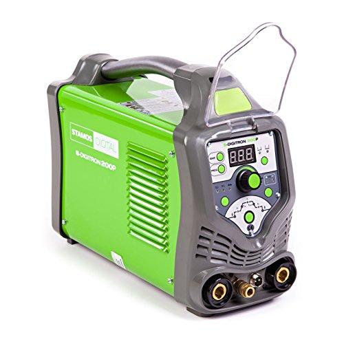 Preisvergleich Produktbild Stamos Germany - S-DIGITRON 200P - WIG-Schweißgerät - Pulse - 230 V - max. 200 A - ED 60 % - HF - 15,4 kg