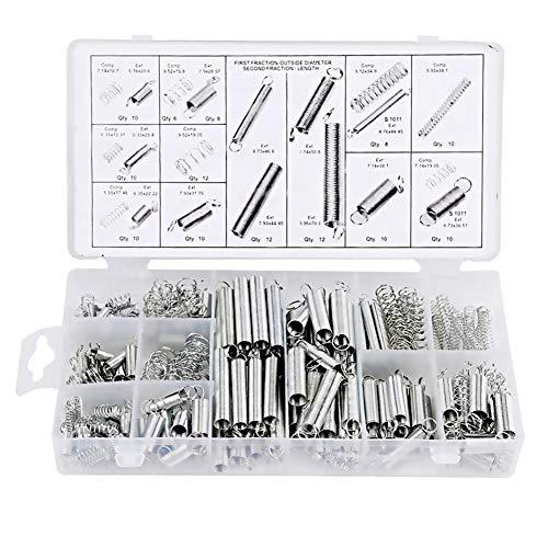 FUVOYA Lot de 200 Kits de Ressorts à Ressorts étendus et compressés Silver