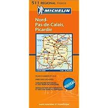 Carte routière : Nord-Pas-de-Calais, Picardie