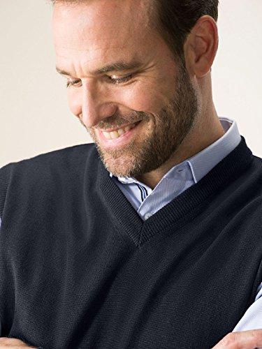 Walbusch Herren Merino-Mix-Pullover einfarbig V-Ausschnitt in den Farben Blau, Rot, Schwarz, Marine, Bordeaux, Anthrazit, Jeansblau Marine