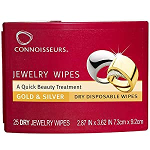 Connoisseurs Jewelry Dry Disposable Wipes 25Count