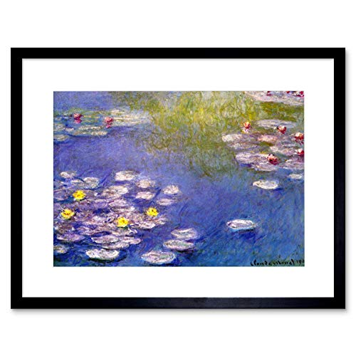 Wee Blue Coo Claude Monet Nympheas At Giverny Old Master Lámina Enmarcada 12 x 16 Pulgadas