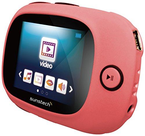 sunstech-sportyii4gbpk-reproductor-mp4-de-4-gb-pantalla-de-18-sd-fm-grabadora-cinta-funda-rosa