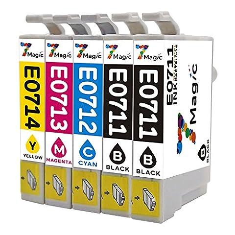 7Magic Compatible Epson T0711 T0712 T0713 T0714 (T0715) la Cartouche