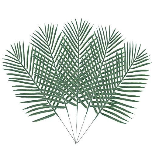 Warmter 100Künstliche Palme Grün Pflanzen Faux Blätter Grün für Blumen Arrangement Hochzeit Geburtstag Party Hawaii Party Dekoration
