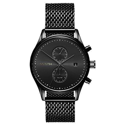 MVMT Herren Chronograph Quarz Uhr mit Edelstahl Armband D-MV01-BL2