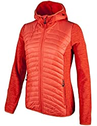 CMP Damen Fleece Jacke Fix Hood Hybrid Melange 3H21566