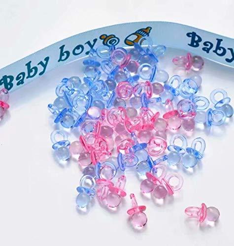 Schnuller Baby Dusche Bevorzugungs Partei Dekorationen Taufe -Transparente Blau and rosa ()