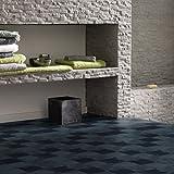 Gerflor selbstklebende Vinyl-Fliesen - Design Square Dark 0630 Vinyl Fußbodenbelag 5m² pro Paket Vinylboden, Klebefliese, Vinylfliese