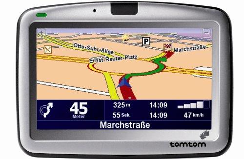 Tomtom Go 910 Mobile Navigation inklusive TMC Receiver Westeuropa, USA und Kanada auf 20 Gb Festplatte