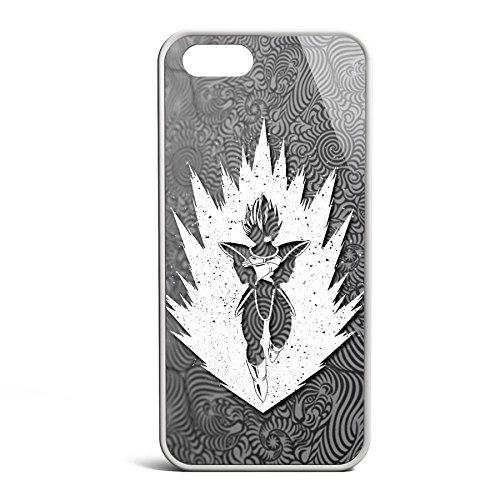 Smartcover Case Saiyan z.B. für Iphone 5 / 5S, Iphone 6 / 6S, Samsung S6 und S6 EDGE mit griffigem Gummirand und coolem Print, Smartphone Hülle:Iphone 6 / 6S schwarz Iphone 5 / 5S weiss