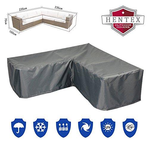 Premium 3296 Loungeset Sofa Schutzhülle für Gartenmöbel aus mehrschichtige Ripstop-Polyester...