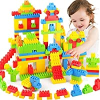 Inaaya Multicolor 110 Pcs Building Blocks Learning Educational Game Toy Set for Kids Girls Boys