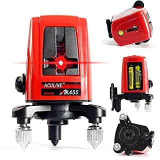 ACULINE AK455 3 Line 3 Point 360 degree Self- leveling Cross Laser Level Red HOT SALE Level Laser Level Tools