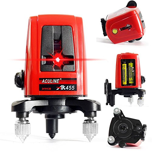 ACULINE AK455 3 Line 3 Point 360 degree Self- leveling Cross Laser Level Red HOT SALE Level Laser Level Tools by ACULINE