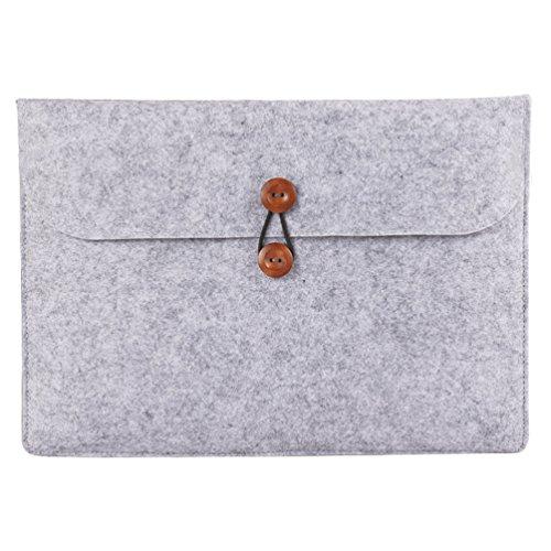 YiJee Laptophülle Notebook Hülle Sleeve Tasche Schutzhülle Aktentasche 11.6 Zoll Grau
