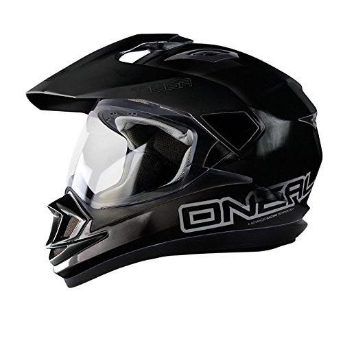 O'Neal Tioga Motorrad Enduro MX Helm Schwarz Motocross Offroad Enduro, 0201-10, Größe Small (55 - 56 cm)