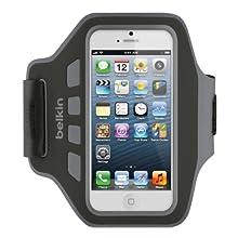 Belkin F8W105vfC00 Brassard Lycra et néoprène Noir, pour iPhone5