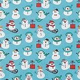 HomeFashion Servietten Weihnachten • Verschiedene ausgefallene Motive zur Auswahl • 33x33 cm je 20 Stück 3-lagig Weihnachten Weihnachtsservietten Serviette Advent Winter (Serviette Schneemänner)