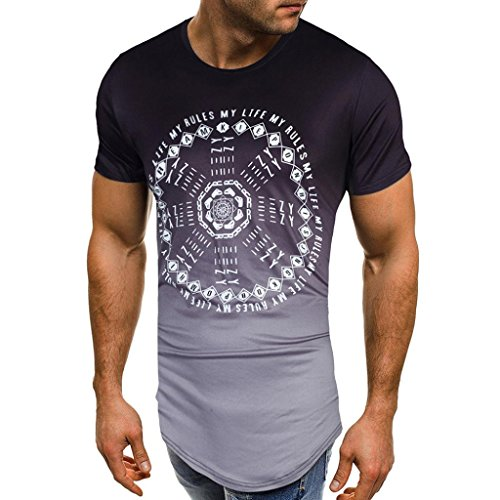 KPILP Men's T Shirt Short Sleeve Muscle Casual Tops Father's Day Gift