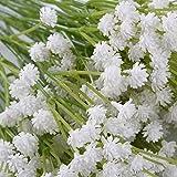 Never-hu Kunstblumen Schleierkraut Blumenstrauß Dekorative Blumen Arrangement Tisch Hochzeit Party Deko - 5