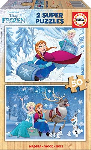 Educa 16802.0 - Frozen, Spiele und Puzzles, 2x50 Teile (100 Teile Puzzle Erwachsenen)