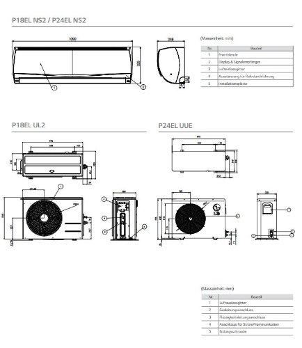 51EDG8R9WLL - LG Split unit DC Inverter P18EL 5kW up to 164 ft² Complete set