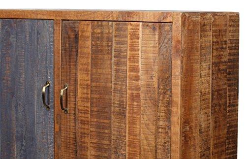 The Wood Times Kommode Schrank Massiv Vintage Look Rustic Mangoholz, FSC Zertifiziert, BxHxT 120x142x40 cm - 5
