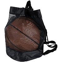 Yunhigh mochila con cordón para balonvolea de fútbol voleibol bolso de la bolsa de la bolsa de malla de malla ligera mochila de viaje deportivo gymbag - negro
