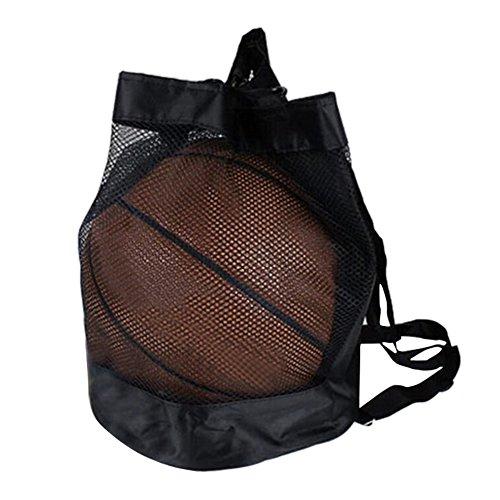 Là Vestmon Ball Net Tasche Aufbewahrung Netz Basketball Fußball Volleyball Fußball Mesh Carry Net Verstellbarer Riemen Kordelzug Sling Ball Tasche Familie Teens Jungen Organizer Backyard (Verstellbare Basketball-netz)