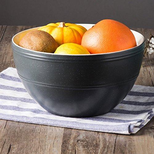 Yxsd Grand Bol à Soupe en céramique avec Bol à Fruits 8 Pouces (Couleur : Noir)