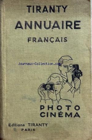TIRANTY ANNUAIRE FRANCAIS - PHOTO -