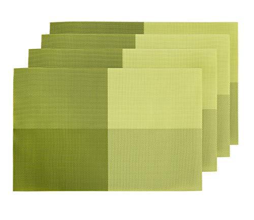 Deconovo Platzdeckchen Tischsets Platzmatten Kunststoff 30x45 cm Gr