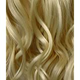 Elegant Hair - 23 ONE PIECE Clip In Hair Extension WAVY CURLY Light Blonde #613 5 Clips 100g by Elegant Hair
