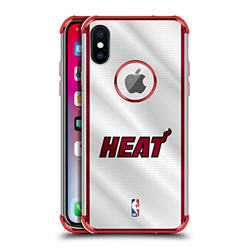 Offizielle NBA Trikot Miami Heat Rot Schocksicheres Schutzblech Hülle für iPhone X/iPhone XS Miami Heat Cellular Phone Case