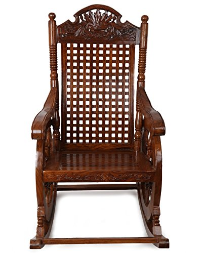 Crafts A To Z Grandpa Rocking Chair (Brown, 43 X 24 X 37 Inch)