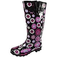 NEW LADIES WIDE CALF WELLY WINTER SNOW WELLIES RAIN WELLINGTON BOOTS SIZE 3-8