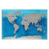 ZYCkeji Schön Ocean World Scratch Karte, Travel World Scratch Karte Ocean Scratch Off Folie Schicht Streich World Deluxe Scratch Map 59.4x82.5CM