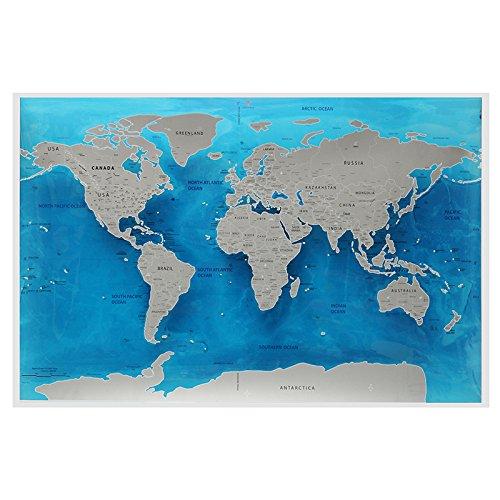 (ZYCkeji Schön Ocean World Scratch Karte, Travel World Scratch Karte Ocean Scratch Off Folie Schicht Streich World Deluxe Scratch Map 59.4x82.5CM)