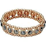 Pilgrim...Hämatit & Rose Gold überzogen Elastisches Armband...Durchmesser: 6,5 cm