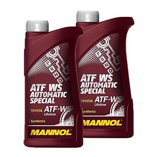 Preisvergleich Produktbild 2x 1 L Liter Mannol ATF WS Automatic Special Getriebe-Öl Getriebe-Flüssigkeit Automatik-Öl; Spezifikationen/Freigaben: Toyota / Lexus / Scion ATF WS Lifetime; Toyota / Lexus / Scion 08886 - 02303 / 02