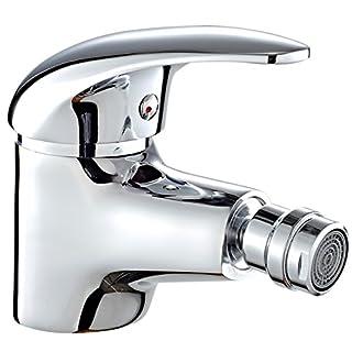 DP Bath Naranjo- Single lever bidet mixer tap, silver
