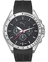 Puma Time Herren-Armbanduhr PU-Forward silver black Analog Quarz Kautschuk PU104021003