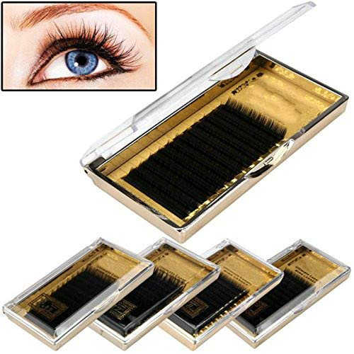 Feytuo 12mm Makeup 0 15C Individual Eyelashes Mink Eye Lashes Extensio