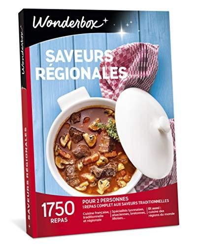 Wonderbox - Coffret Cadeau pour noel - SAVEURS REGIONALES - 1685 repas aux saveurs...