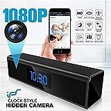 Spy Camera, Mini Telecamera Nascosta Orologio con Visione Notturna 1080P WiFi Spy Cam con Telecamera Motion Detection Nascosto in Tempo Reale casa o di sorveglianza