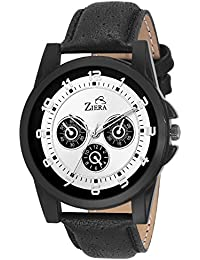 ZIERA ZR7033 BLACK LEATHER STRAP STYLISH Analog Watch - For Men